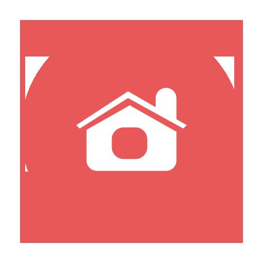 Main, Index, Mainpage, Red, Circular, Home, Modern Icon