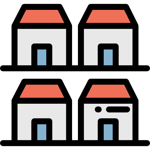 Houses, Buildings, Residential, Real Estate, Homepage, Main, Home Icon