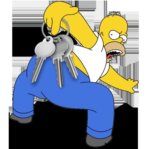Safari, Homer, Simpson, Browser Icon