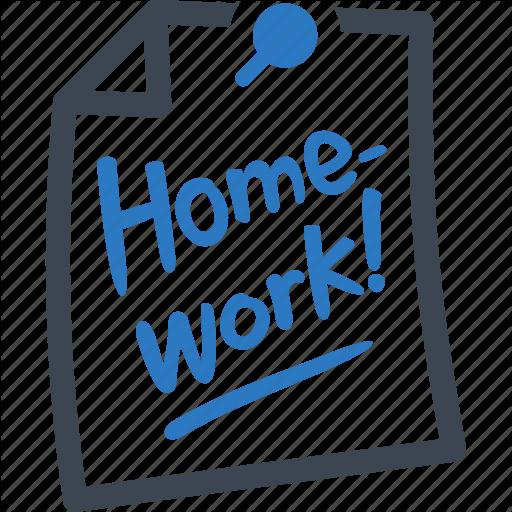 Education, Homework, School Icon