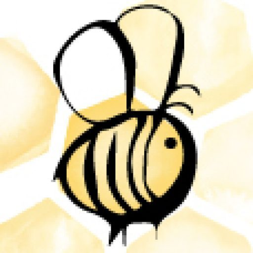 Cropped Honey Bee Square Icon Honey Bee Stamps