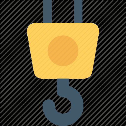 Construction, Crane Hook, Lifter, Lifting, Lifting Hook Icon