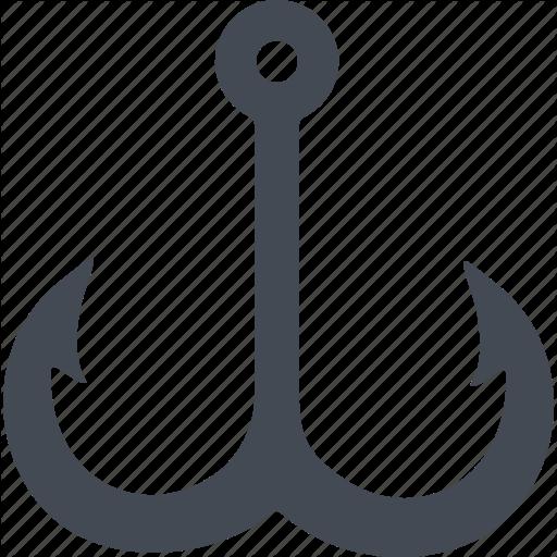 Fishing, Fishing Gear, Fishing Tackle, Hook Icon