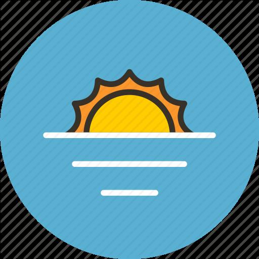 Ecology, Horizon, Nature, Sea, Summer, Sun, Water Icon