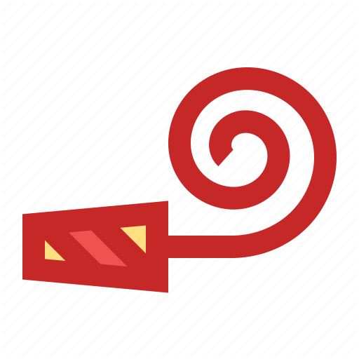 Celebration, Horn, New Year, Party, Whistle Icon