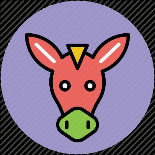 Animal, Cartoon Animal Face, Horse, Horse Face, Horse Head Icon