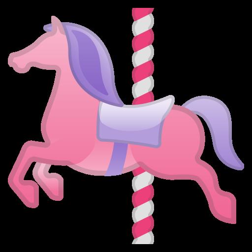 Carousel Horse Icon Noto Emoji Travel Places Iconset Google