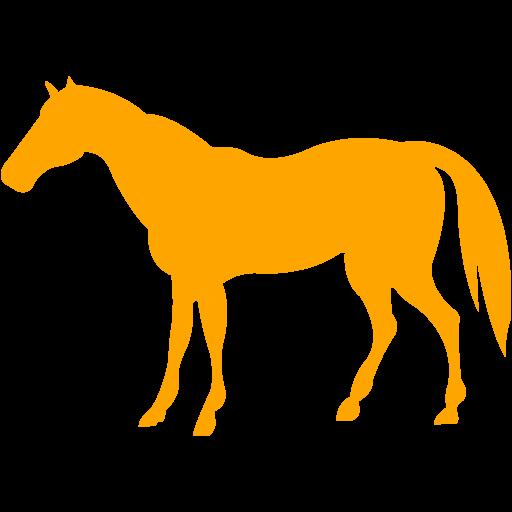 Orange Horse Icon