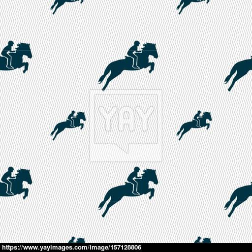 Horse Race Derby Equestrian Sport Silhouette Of Racing Horse