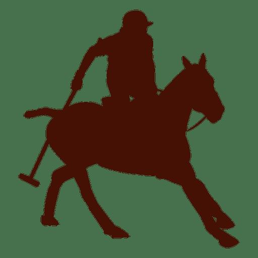 Polo Horseback Action Silhouette