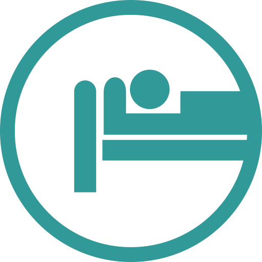 Hospital, Bed, Patient Icon