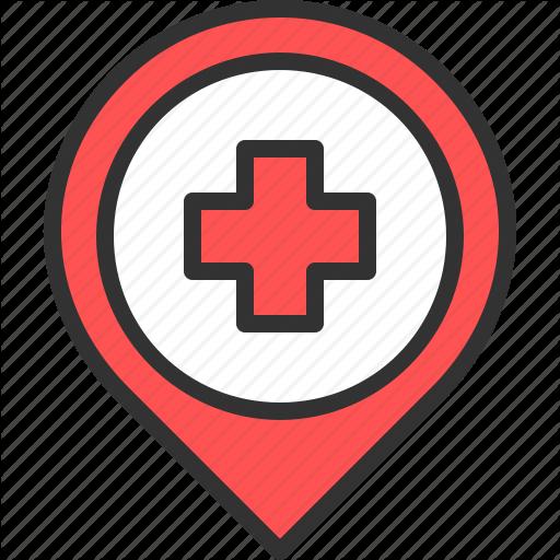 Cross, Doctor, Health, Hospital, Location, Map, Pn
