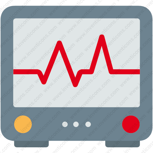 Download Ecg,heart,heartbeat,hospital,pulse,screen Icon Inventicons