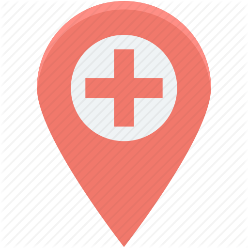 Health Clinic, Hospital Location, Hospital Pin, Location Pin, Map