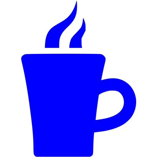 Blue Hot Chocolate Icon