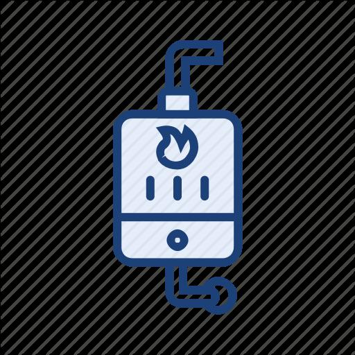 Boiler, Hot Water, Warm Water, Water Heater Icon