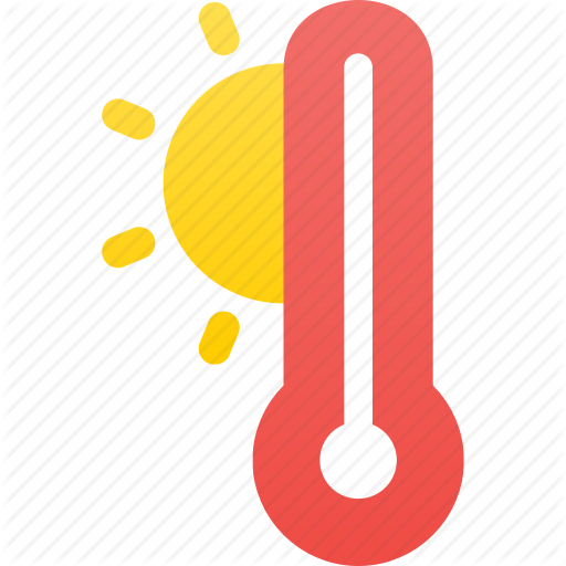 High, Hot, Temperature, Warm, Weather Icon