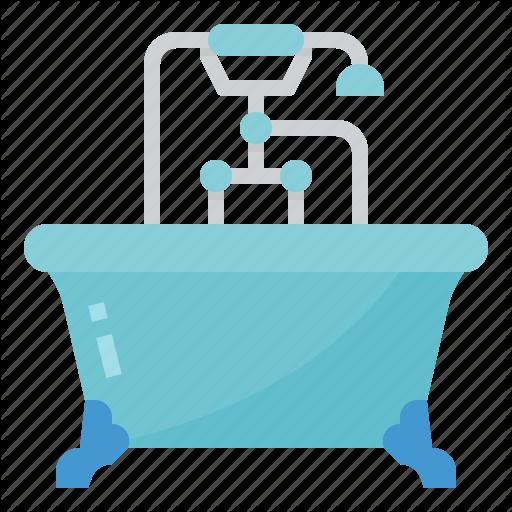 Bath, Bathroom, Bathtub, Hotel Icon