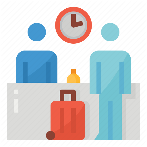 Check, In, Register, Residence, Time Icon