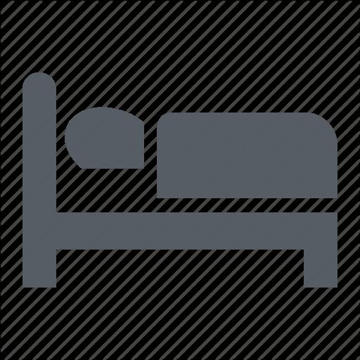 Bed, Bedroom, Hotel, Single, Sleep Icon