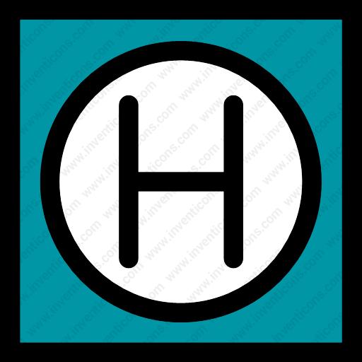 Download Hostel,hotel,logo,hospital,shape Icon Inventicons