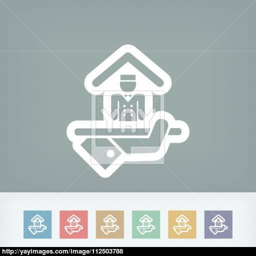 Hotel Icon Porter Service Vector