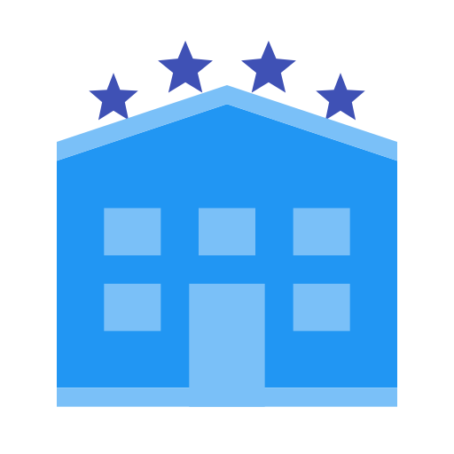 Flat, Multicolor, Hotel Icon With Png And Vector Format For Free