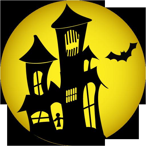 Haunted House Icon Halloween Iconset Goldcoastdesignstudio