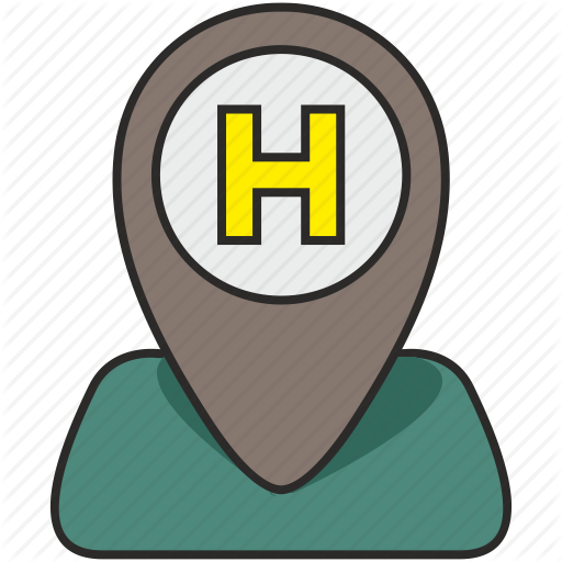 H, Helicopter, Hotel, Parking, Place, Poi, Pointer Icon