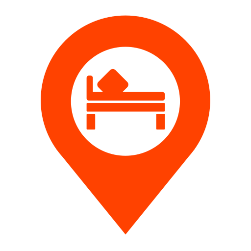 Location Hotel Room, Fill, Monochrome Icon Png And Vector For Free