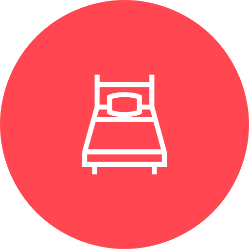 Red, Single, Room Icon Free Of Hotel And Spa Icons