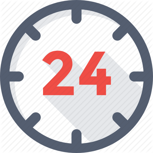 Hours, Clock, Customer Service, Helpline, Time Icon
