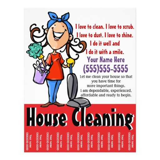 House Cleaning Marketing Flyer Adv, Budgeting
