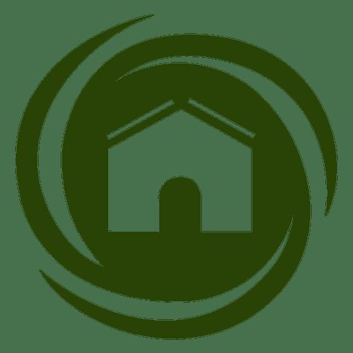 Spiral Swirls House Icon