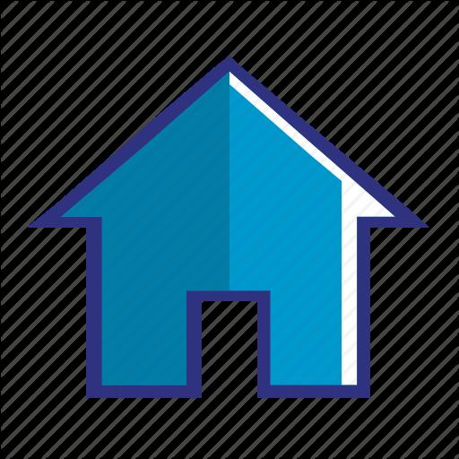 Apartment, Blue, Building, Construction, Home, House Icon