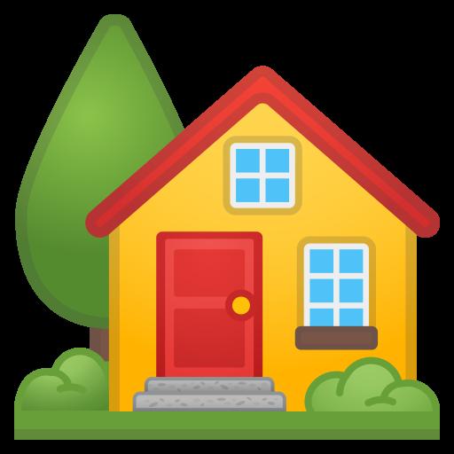 House With Garden Icon Noto Emoji Travel Places Iconset Google