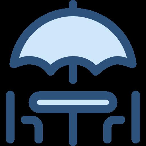 Terrace, Chairs, Sun Umbrella, Umbrella, Restaurant, Furniture