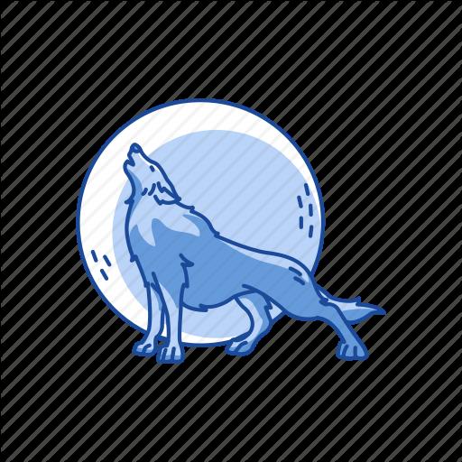 Full Moon, Halloween, Howling, Midnight, Wolf Icon