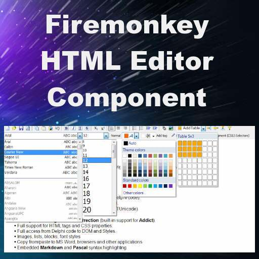 Html Editor Component Library