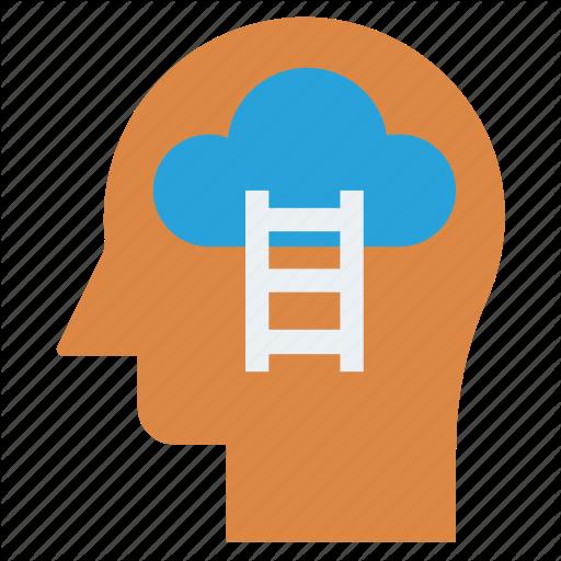 Cloud, Head, Human Head, Mind, Stairs, Thinking Icon