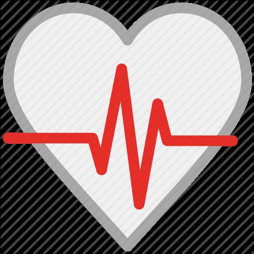 Heartbeat, Human Heart, Pulsation, Pulse Icon