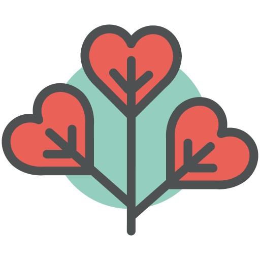 Heart, Plant Icon Free Of Flat Line Valentine Icons