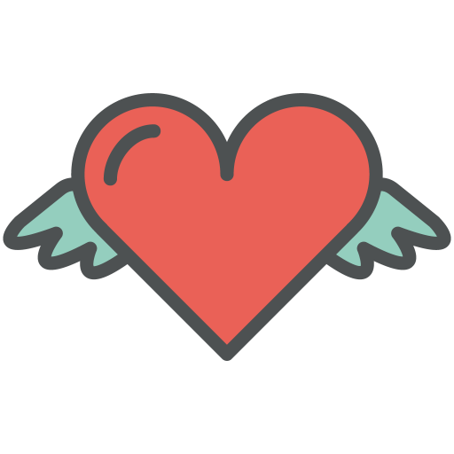 Heart, Wings Icon Free Of Flat Line Valentine Icons
