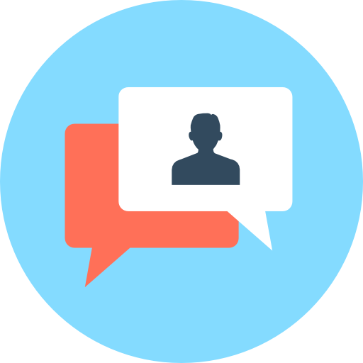 Chat Icon Human Resources Vectors Market