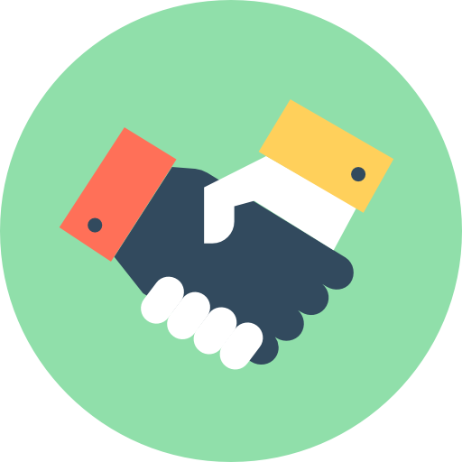 Handshake Icon Human Resources Vectors Market