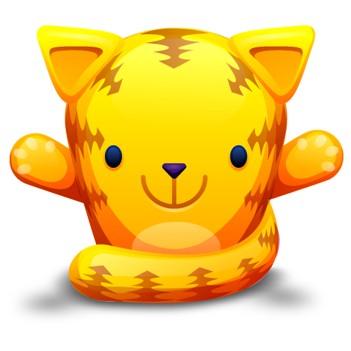 Cute Little Yellow Cat Icon Download Free Icons