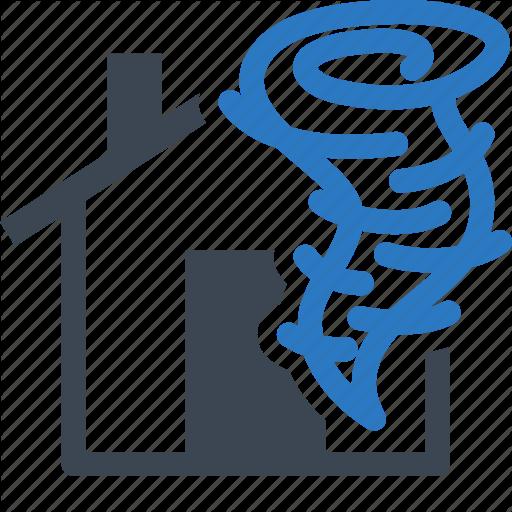Home Insurance, House, Hurricane, Tornado Icon