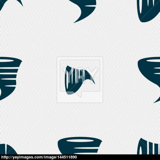 Tornado Icon Seamless Abstract Background With Geometric Shapes