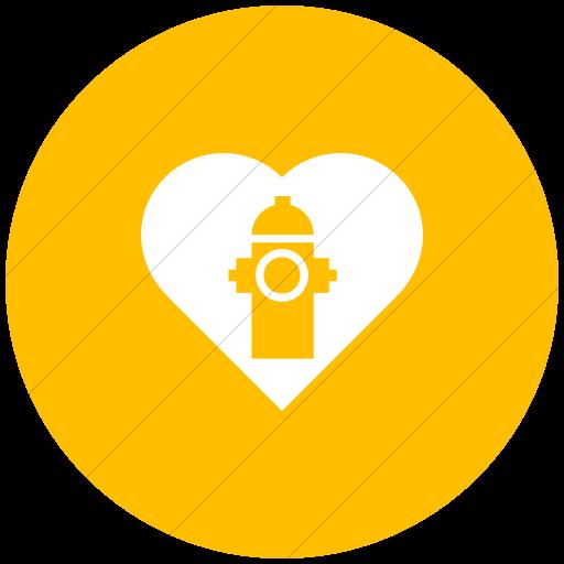 Flat Circle White On Yellow Iconathon Adopt A Hydrant Icon