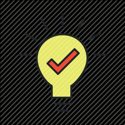 Advice, Bulb, Concept, Evidence, Experience, Hypothesis, Idea